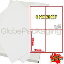 5000 Sheets Of Printer Address Laser Labels 4 Per Sheet