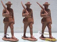 Marx Soft Plastic American Heros Spanish American War 3 Piece Rough Rider Lot Ex