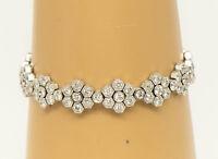 18K Diamond Tennis Bracelet Art Deco Style White Gold