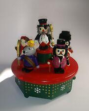 Vintage Wood Music Box Christmas Rare