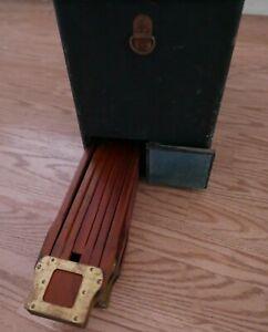 Folmer Graflex Crown Tripod #2 Legs & Graflex Camera Case