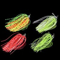 Mixed Color Rubber Swim Bass Jig Fly Fishing Lures Silicone Skirts Acessories D
