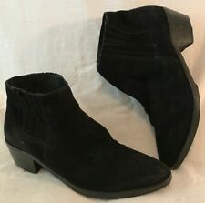 Mango Touch Black Ankle Suede Lovely Boots Size 8 (284v)