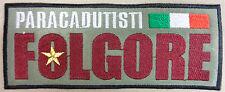 """Toppa/Patch Commemorativa Soggetto """"PARACADUTISTI FOLGORE"""" - Tricolore ITALIA"""