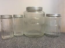 Antique Hoosier Traditional Mission Jars, Coffee, Tea, (2) Spice