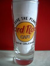 HRC HARD ROCK CAFE New Orleans STP Save the Planet SHOTGLASS liquore vetro
