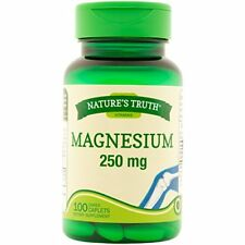 Natures Truth Magnesium 250mg Tablets 100 Count Each