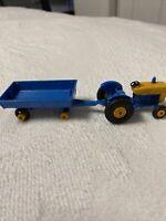 Vintage Regular Wheels Lesney Matchbox 39 Blue Ford Tractor & Trailer Rare