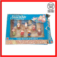 The Seven Dwarfs Figures Vintage Snow White Toy by Mattel 65351 Walt Disney