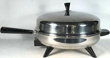 "Vintage FarberWare 12"" Electric Fry Pan Skillet Model 310-A Dome Lid Working"