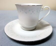 "PORCELAIN TEA CUP AND SAUCER MADE IN CHINA ""H"" MAKER MARK WITH BIRDS"