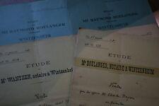 lot 5 actes de notaire Wintzenheim alsace 1928-1937