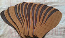 12 x PAIRS OF ULTRA COMFORTABLE UNISEX, SYNTHETIC LEATHER INSOLES, CUT TO SIZE.