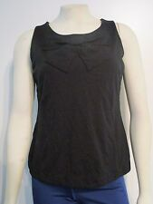 Womens X-Small Banana Republic Fashion Casual Sleeveless Blouse Top Shirt Black
