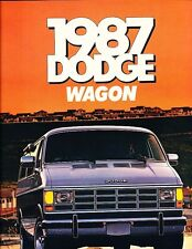 1987 Dodge Ram Van Wagon Original Sales Brochure Catalog - B150 B250 B350
