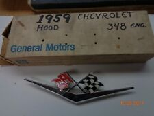 1959 Chevrolet Hood Emblem N.O.S #3759108
