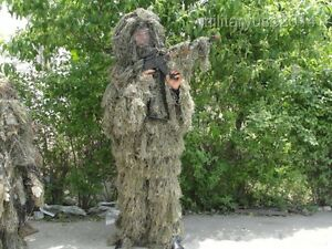 Adults 3D Military Camouflage Woodland Sniper Ghillie Suit & Camo Jungle