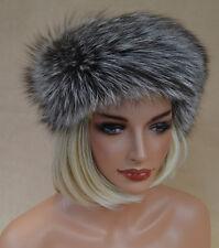 Stirnband Schal  Mütze Halstuch Fell Kragen  Pelz Silberfuchs