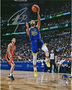 """Stephen Curry Golden State Warriors Signed 8"""" x 10"""" Lay Up vs Pelicans Photo"""