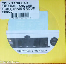 Tichy Train Group #10020 Decal for: CDLX 8,000-Gallon Tank Car