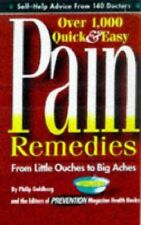 Over 1,000 Quick & Easy Pain Remedies from Little O Goldberg, Phil HC Free Ship