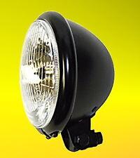 Hauptscheinwerfer Scheinwerfer Lampe Bates 5 3/4 12V H4 Schwarz E-geprüft TÜV