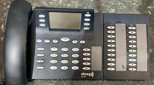 ISDN-System-Telefon Elmeg CS410 mit T400 Erweiterung in gutem Zustand