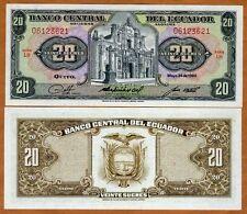 Ecuador, 20 Sucres, 5-24-1980, P-115b, UNC > Pre-USD$