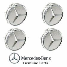 4 GENUINE MERCEDES Alloy Wheel Center Star Cover Emblem Logo Badge Hub Cap Set