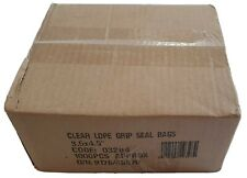 """1000 Clear LDPE Grip Seal Bags 3.5x4.5"""""""