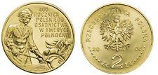 2008 POLAND 2 zlote NG Polish Settlement North America Osadnictwo w Ameryce