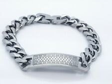 MEN'S CLASSIC TWISTED CHAIN  STAINLESS STEEL  BRACELET 01