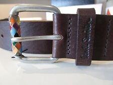 PAUL SMITH Accessories NEW WITH TAGS BROWN LEATHER BELT SIZE 28