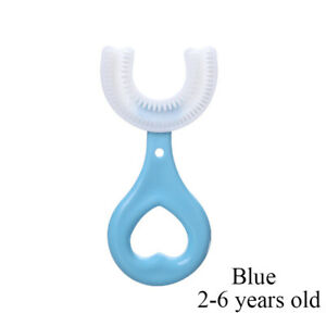 U-shaped Silicone Children's Toothbrush New Baby Cleaning Oral Care Supplies