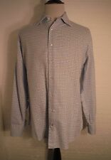 Daniel Cremieux Silver Label Men's Size XL L/S Button Front Blue Geometric Shirt