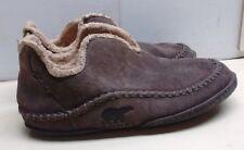 Sorel Men's Manawan Brown Suede Moccasin Slippers Indoor Casual Dress Shoes 10 M