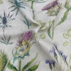 Sanderson, Thistle Garden Linen Curtain Fabric, Material 140cm Width