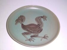 "Lavern E. ""Ernie"" Moll Studio Pottery ROOSTER Plate/Charger Dated 1949"