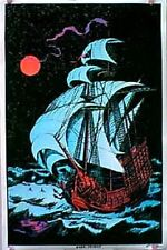 1970s Moon Voyage black light poster replica magnet - new!