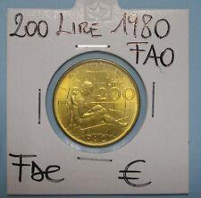 200 LIRE LAVORO 1980 FAO FDC(1) DA ROTOLINO SIGILLATA OBLO' COMPRA SUBITO