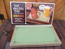 Vintage CORNWALL Hot Electric Food Buffet Warmer Tray Avocado Green