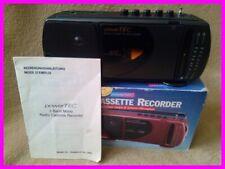 Radio-Kassetten-Recorder powerTEC SL-128A schwarz MW FM Kassettenplayer NEU OVP