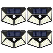 100LED Outdoor Solar Wall Light PIR Motion Sensor IP65 Garden Yard Path Lamp