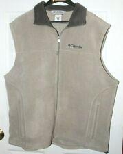 Columbia Field Gear Men's Size XXL Fleece Vest ~ Tan