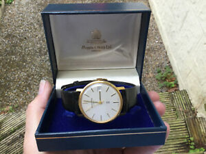 Vintage 9ct Gold Mappin & Webb Mans Watch Boxed