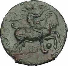 HIMERA in SICILY 420BC Pan rides Goat Nike Authentic Ancient Greek Coin i51588
