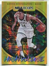 2019-20 PANINI NBA HOOPS GIANNIS ANTETOKOUNMPO HIGH VOLTAGE SP INSERT - INVEST!!