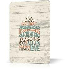 Metal Tin Sign LIFE AVOIDING RISK  Retro Vintage Inspirational Decor Home Wall