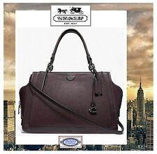 NWT COACH DREAMER 36 Satchel Crossbody Handbag In OXBLOOD Pebble Smooth Leather