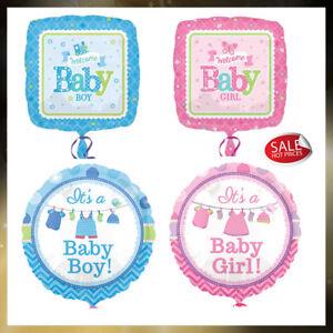 Newborn Baby Boy, Baby Girl Standard Helium Foil Balloons Different Design 18in